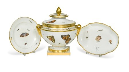 A Barr Flight & Barr two-handled ice pail, cover and liner, circa 1810,