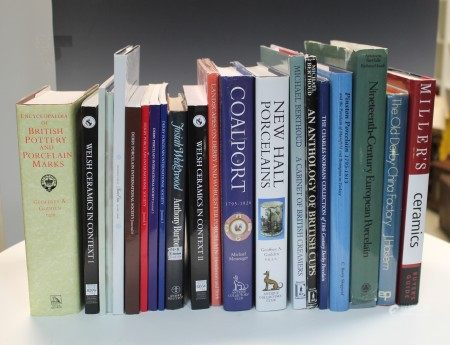 A collection of English ceramic reference books,