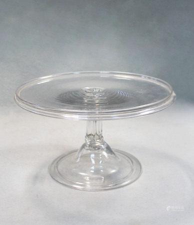 A George III glass tazza,