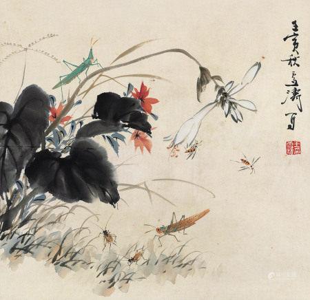 王雪涛 1903~1982 小园雅趣