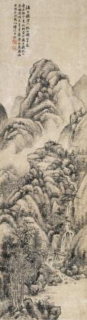 陆恢 1851~1920 仿大痴秋山图