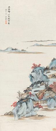 吴湖帆 1894~1968 江天帆影