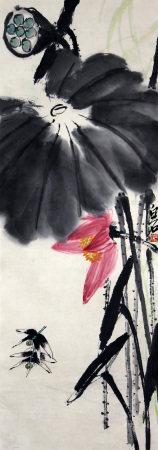 齐白石 荷花蜻蜓