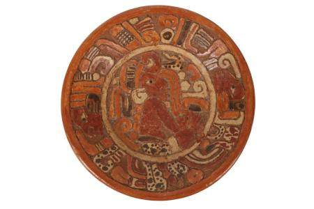 A Pre-Columbian Mayan style pottery censer