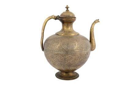 A Large Kashmiri Brass Ewer