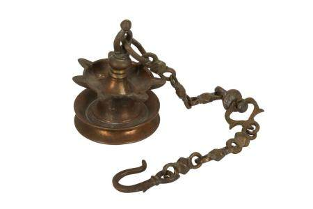 A Hanging Copper-Alloy Oil Lamp