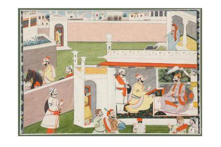 A Painted Narrative Sequence at a Princely Court
