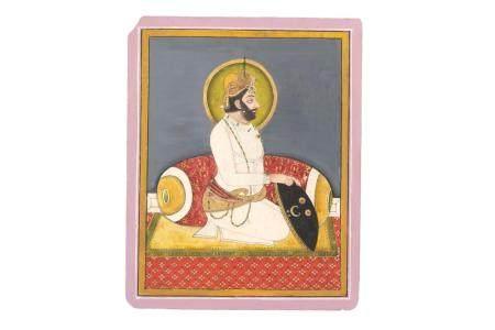 A Seated Portrait of Maharana Bhim Singh of Mewar (1768 - 1828)