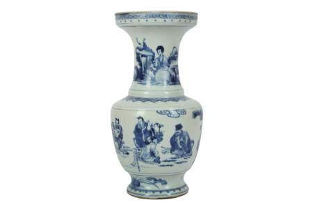A Chinese blue and white porcelain vase, Kangxi,