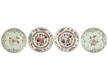 A pair of 18th century Chinese Imari plates,