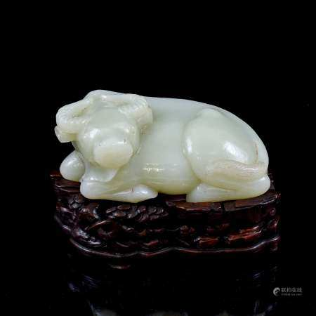 Qing Dynasty CHINESE JADE WATER BUFFALO SCULPTURE