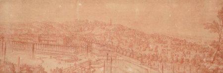 ATTRIBUÉ À JEAN-BAPTISTE MARTIN (1659-1735) - Le village de Marly-le-Roy, vu du [...]