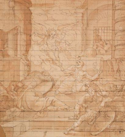 JEAN-BAPTISTE CORNEILLE (1649-1695) - La délivrance de Saint Pierre Plume et encre [...]