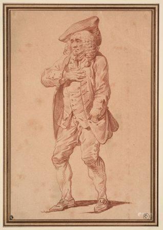 PIERRE-ALEXANDRE WILLE (1748-1821) - Personnage en pied se dirigeant vers la [...]