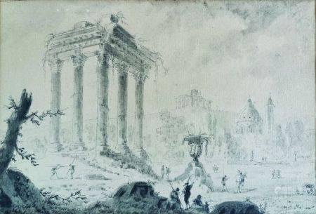 ATTRIBUÉ À JEAN-CLAUDE RICHARD (1727 - 1791) ABBE DE SAINT-NON - Assemblées de [...]