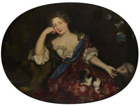 ATTRIBUÉ À HENRI GASCARD (1635 - 1701) - Portrait présumé de Madame de [...]