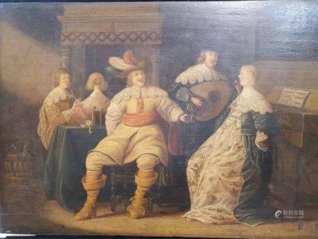 ECOLE HOLLANDAISE DU XVIIEME SIECLE - Suiveur de Palamedes Palamedesz (1607 - [...]