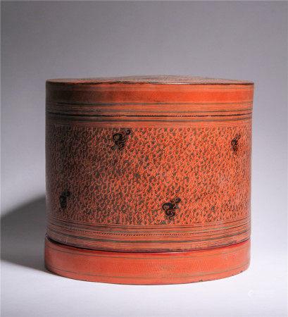 漢代 大漆蓋盒