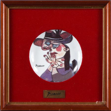 畢加索 思考的女人 瓷盤