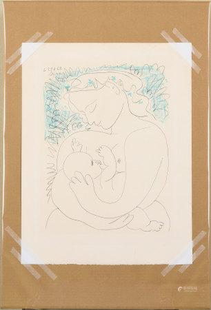 畢加索 母子像 版畫