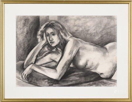 1981年 加藤力之輔 裸女 素描
