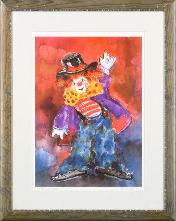 Ute S.mertens 小丑 版畫