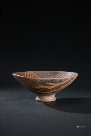彩陶線條紋碗