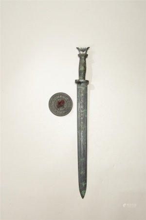 青銅劍 四神獸銅鏡 二件