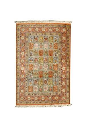 真絲花卉紋地毯