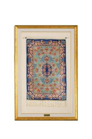 真絲花卉紋掛毯