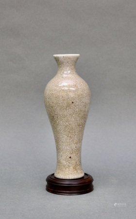清晚期 歌釉窯美人瓶