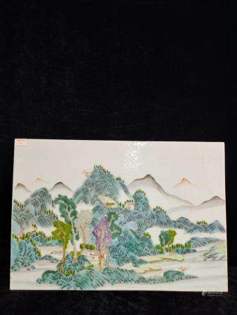 a chinese porcelain plaque