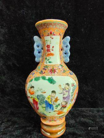 a chinese porcelain wall vase