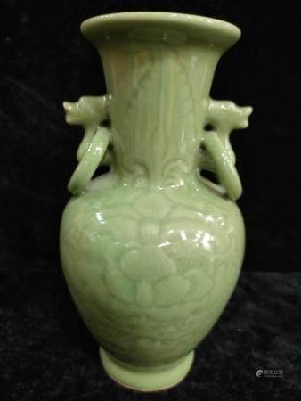 a chinese celedon vase