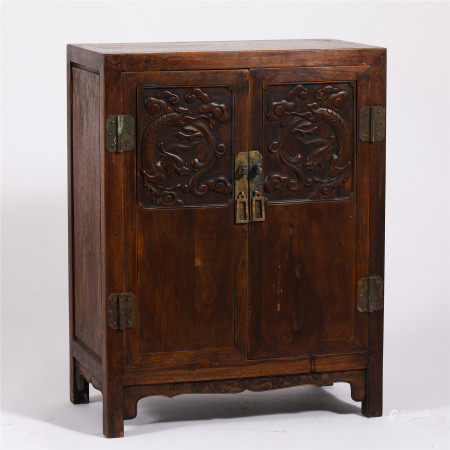CHINESE HARDWOOD CARVED CABINET