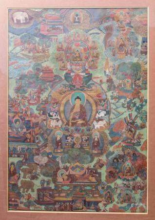 Thangka, Tibet, 19./20. Jh.