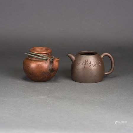LOT OF 2, A GROUP OF CHINESE ZISHA TEAPOTS