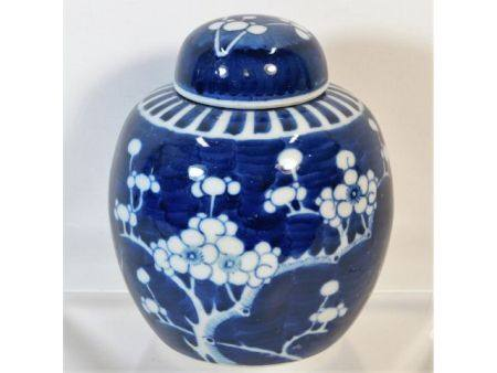 A c.1900 Chinese prunus ginger jar 6.25in high