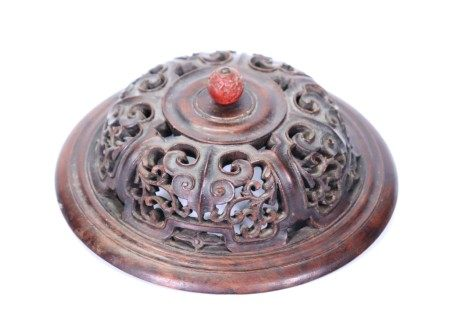 Fine Chinese 18 C Carved & Pierced Hard Wood Cover