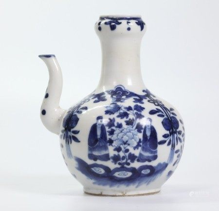 Chinese Blue & White Porcelain Water Pitcher
