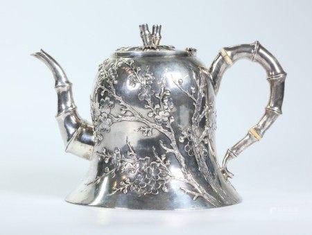 Wang Hing; Chinese Hong Kong Silver Teapot; 544G
