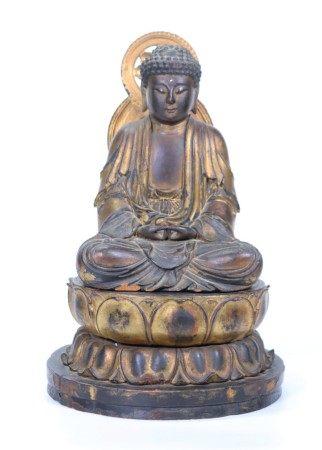 Early Edo ca 1600 Japanese Gilt Lacquered Buddha