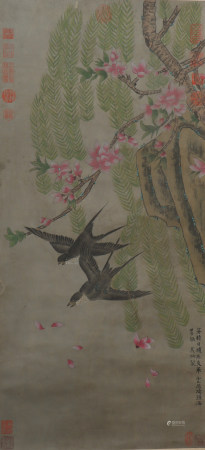 A Wu bing's flowers and birds painting