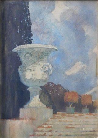 François-Marie de MARLIAVE (1874-1953) - Vase Medicis, parc du château de [...]