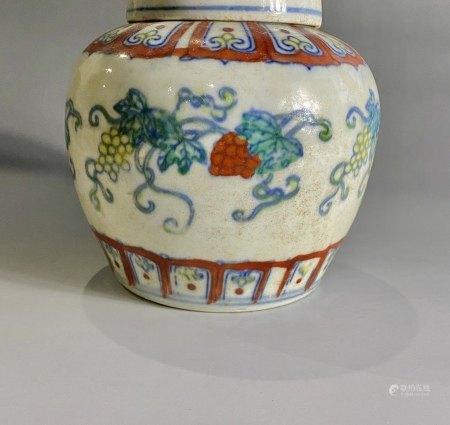 明  成化天字罐(海捞瓷)