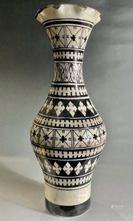 清  磁州窑花口瓶
