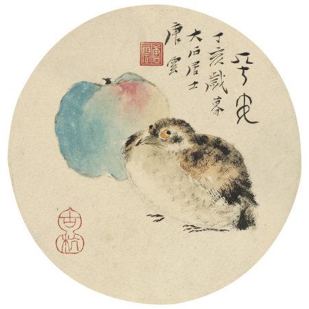 唐雲(1910-1993) 平安圖