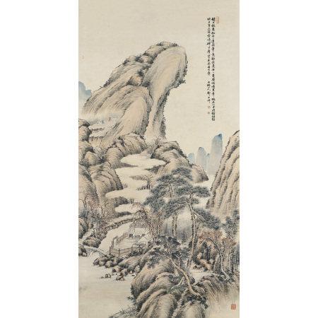 鄭文焯(1856-1918) 雙松高遠