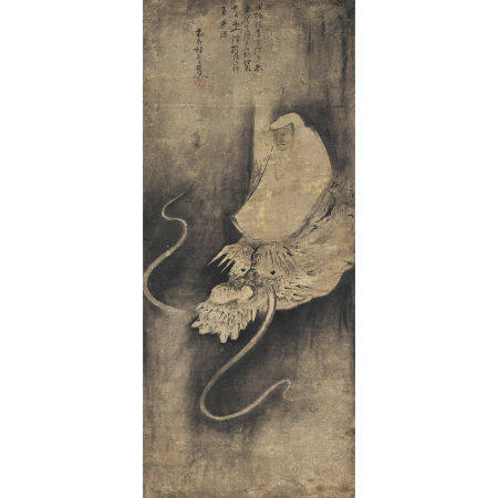 可翁(14世紀前期-中期) 瀧上僧侶圖