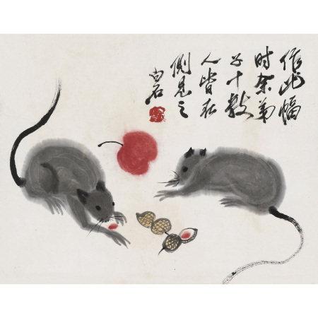 齊白石(1863-1957) 碩鼠圖